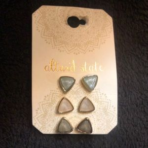 Altar'd State 3 piece earring set